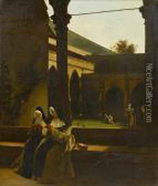 In The Cloister Oil Painting - Francois Bonvin