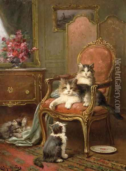 The Favourite Chair Oil Painting - Leon Charles Huber