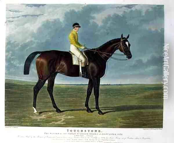 Touchstone the Winner of the Great St Leger Stakes at Doncaster Oil Painting - John Frederick Herring Snr