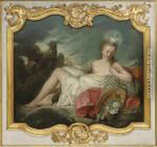 Aurora With A Cockerel Oil Painting - Francois Boucher