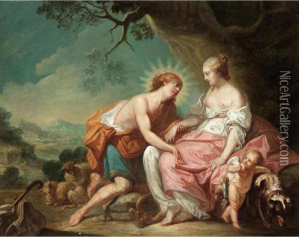 Apollo And The Cumean Sibyl Oil Painting - Francois Boucher