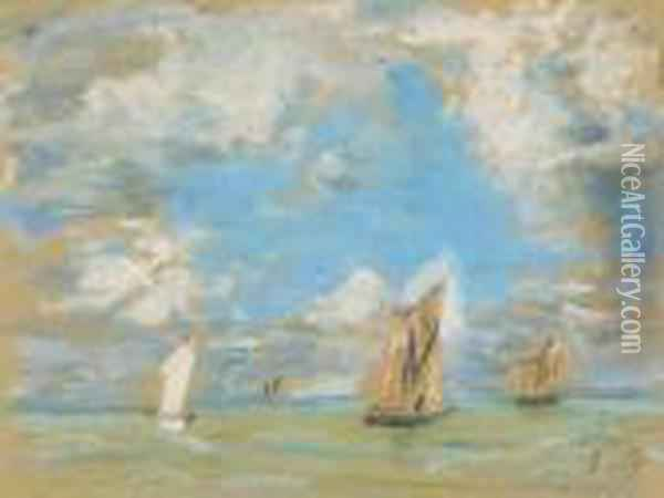 Voiliers Oil Painting - Eugene Boudin