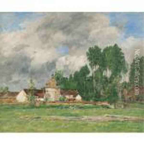 Chartres Oil Painting - Eugene Boudin