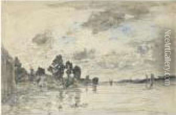 Bords De Seine Oil Painting - Eugene Boudin