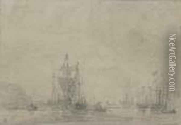 Arrival Of Prince Frederick Oil Painting - Eugene Boudin
