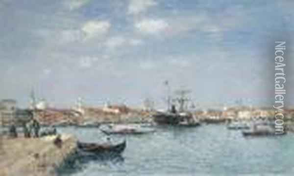 Venise, Le Grand Canal Oil Painting - Eugene Boudin