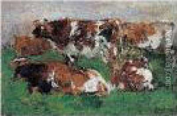 Paturage Normand Oil Painting - Eugene Boudin