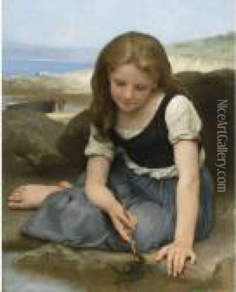 Le Crabe Oil Painting - William-Adolphe Bouguereau