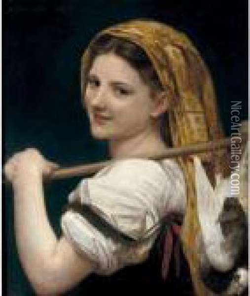 Le Retour De Marche Oil Painting - William-Adolphe Bouguereau
