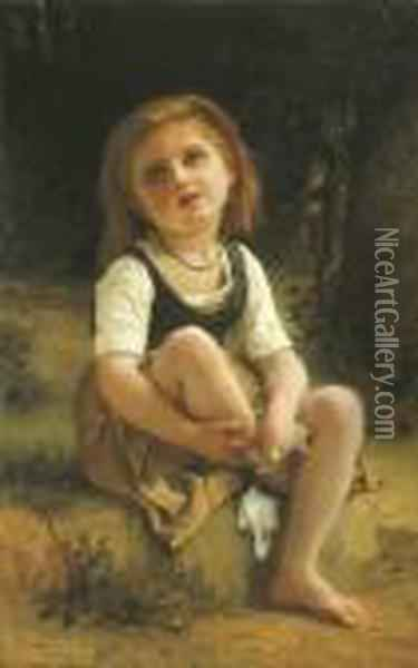 La Petite Blessee Oil Painting - William-Adolphe Bouguereau