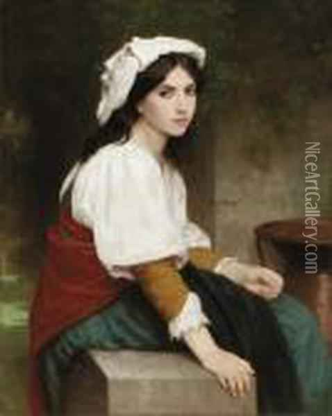 Italienne A La Fontaine Oil Painting - William-Adolphe Bouguereau