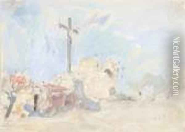Crucifix Oil Painting - Hercules Brabazon Brabazon