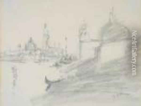 View Of Venice Oil Painting - Hercules Brabazon Brabazon