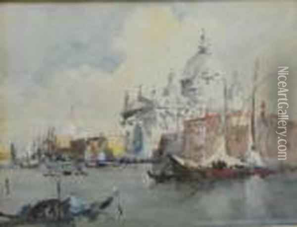 Brabazon - The Quivezza, Venice Oil Painting - Hercules Brabazon Brabazon