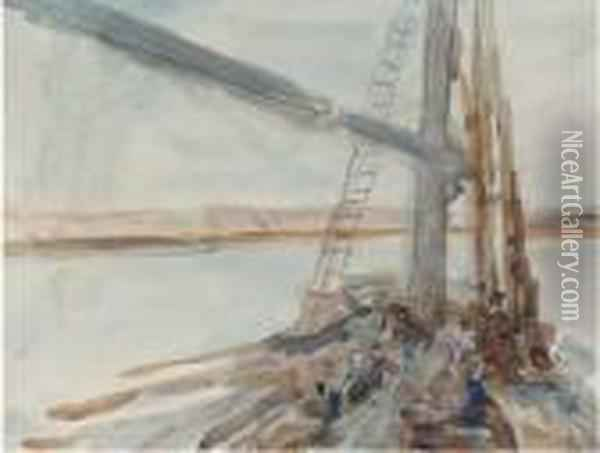 A Felucca On The Nile Oil Painting - Hercules Brabazon Brabazon
