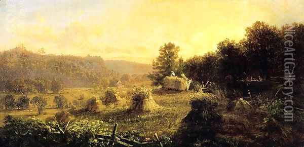 Harvest Scene Oil Painting - Thomas Hiram Hotchkiss
