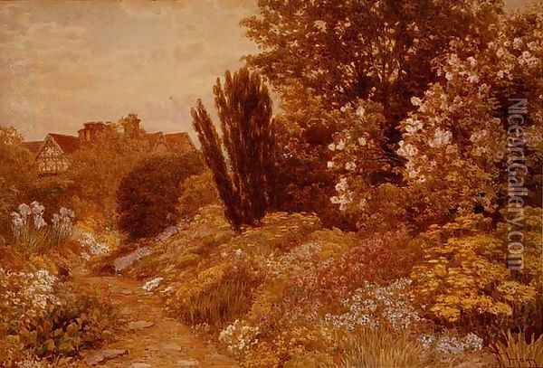 The Alpine Gardens at Tangley Manor Oil Painting - Thomas H. Hunn