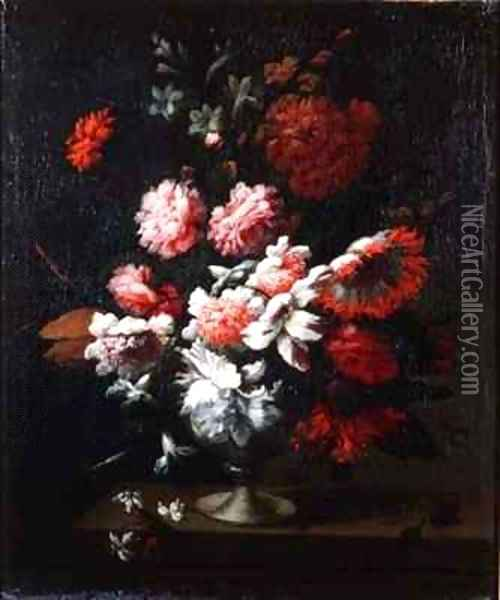 Still life of flowers in an urn 2 Oil Painting - Pieter Hardime