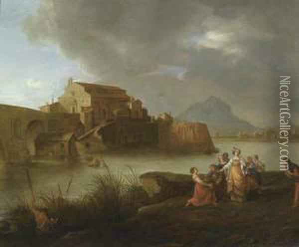 The Discovery Of Moses. Oil Painting - Bartholomeus Breenbergh
