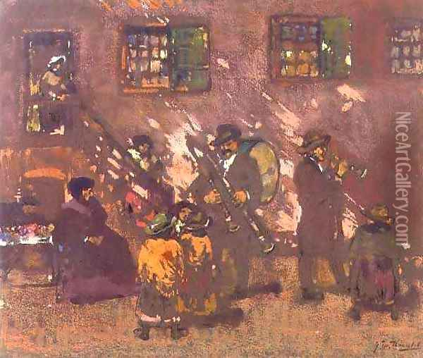 The German Band Oil Painting - James Watterston Herald