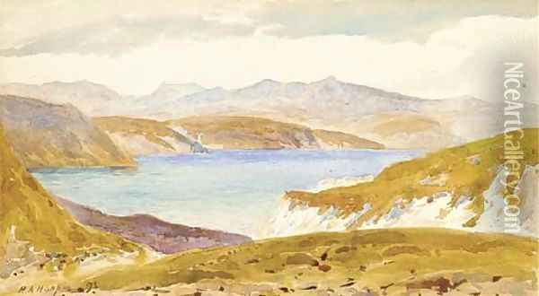 Sea of Tiberias, from Gadara Oil Painting - Henry Andrew Harper