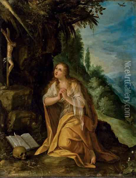 La Madeleine Repentante Oil Painting - Paul Bril