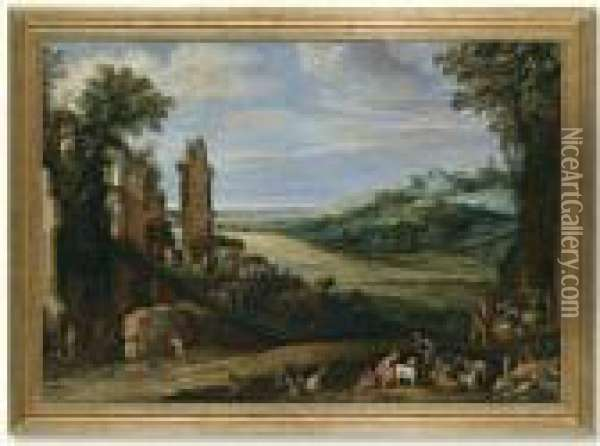 Landscape With Ruins Oil Painting - Paul Bril