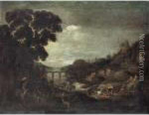 Landscape With The Conversion Of Saul Oil Painting - Paul Bril