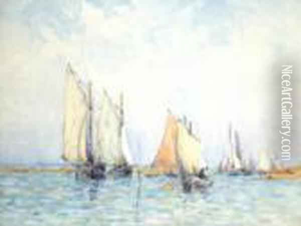 Sunday Sailing, Chichester Harbour Oil Painting - Arthur John Trevor Briscoe
