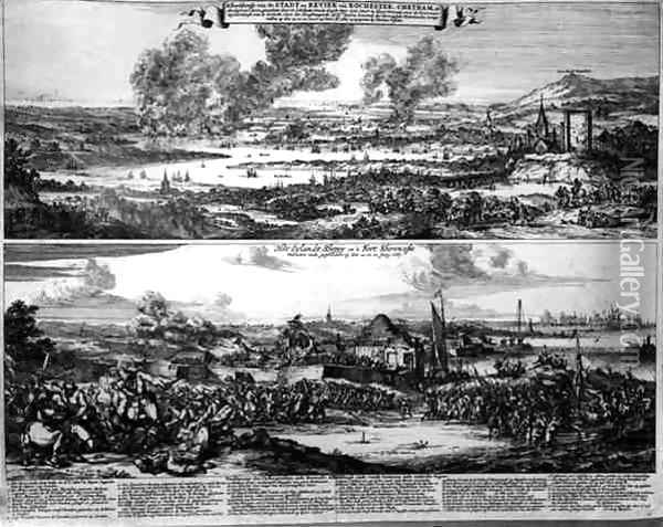 Dutch Attack on the River Medway Oil Painting - Romeyn de Hooghe