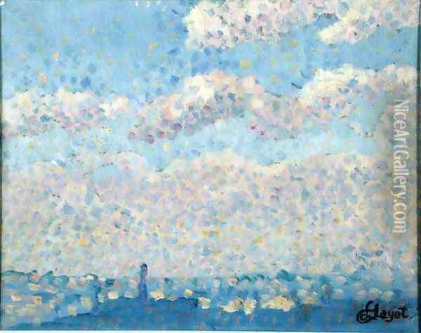 Sky over the city Oil Painting - Louis Hayet