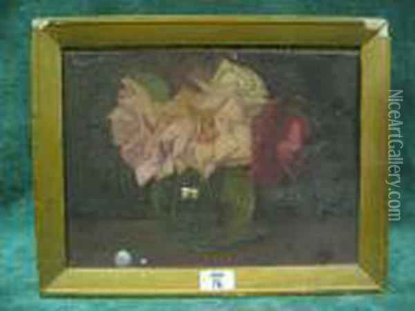 Gather Roses While You May Oil Painting - John George Brown
