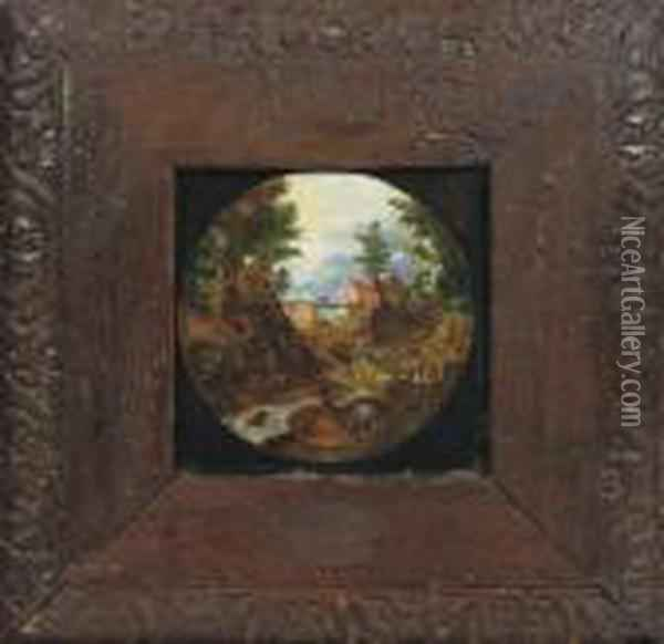 The Flight Into Egypt Oil Painting - Jan The Elder Brueghel