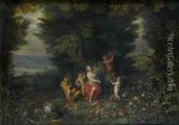 Allegory Of Earth Oil Painting - Jan The Elder Brueghel