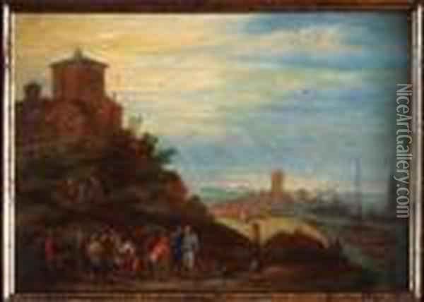 Pescadores. Oil Painting - Jan The Elder Brueghel