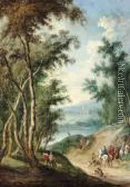 Auf Der Jagd. Oil Painting - Jan The Elder Brueghel