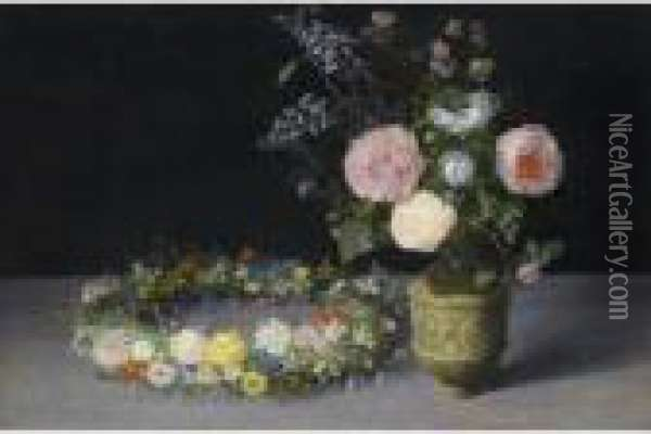 Still Life Oil Painting - Jan The Elder Brueghel