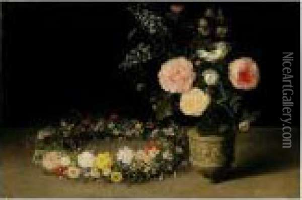 A Still Life Of Roses And Sprays