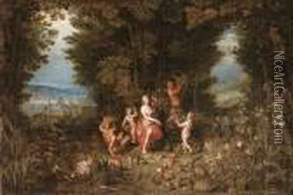 I, J. And Balen, H Oil Painting - Jan The Elder Brueghel