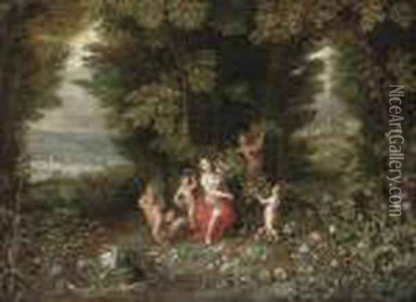 An Allegory Of Earth Oil Painting - Jan Brueghel the Younger