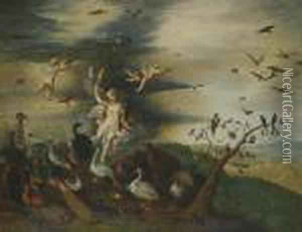 I An Allegory Of Air Oil Painting - Jan Brueghel the Younger