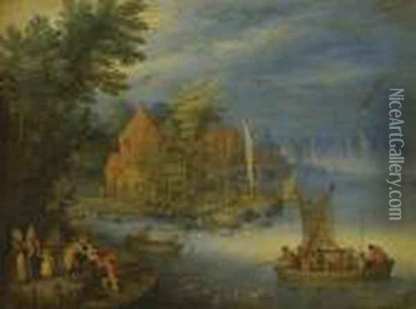 A Town On The Banks Of A Wide 