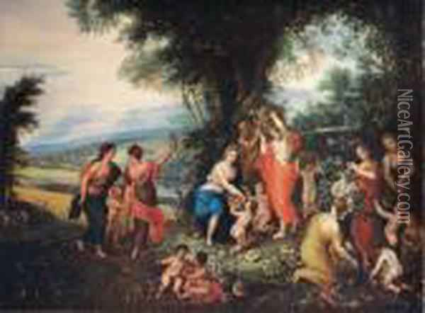 Allegoria Dell'estate Oil Painting - Jan Brueghel the Younger
