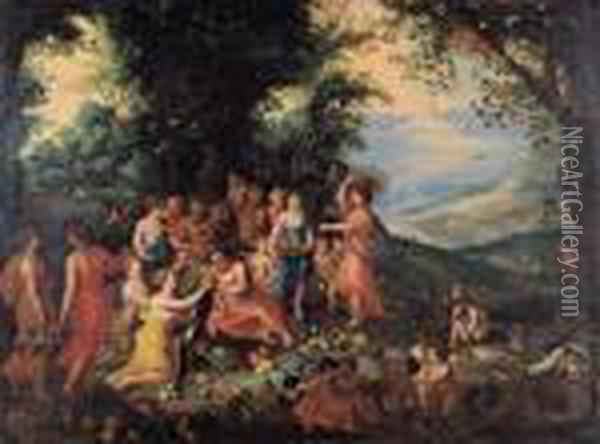 Allegoria Dell'autunno Oil Painting - Jan Brueghel the Younger
