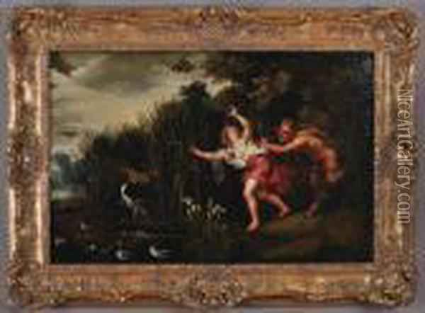 Pan And Syrinx Oil Painting - Jan Brueghel the Younger
