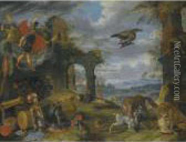 An Allegory Of War Oil Painting - Jan Brueghel the Younger