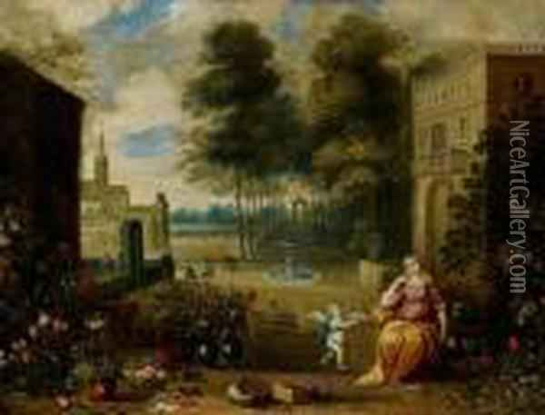 El Olfato Oil Painting - Jan Brueghel the Younger