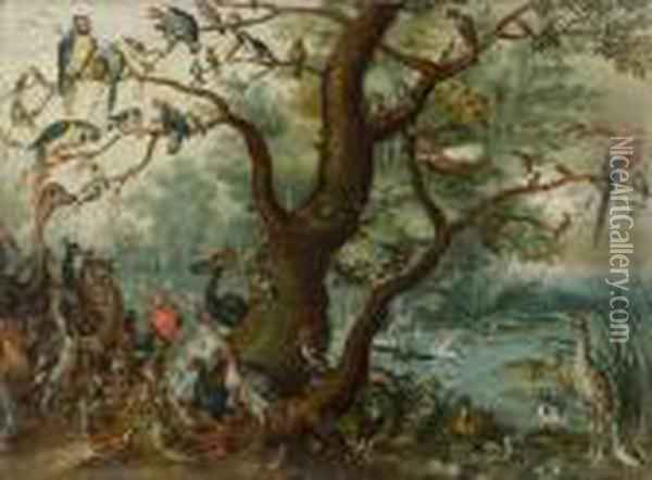 Chorus Of Birds Oil Painting - Jan Brueghel the Younger