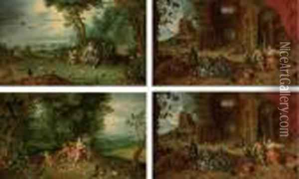 The Four Elements: Fire, Water, Earth And Air Oil Painting - Jan Brueghel the Younger