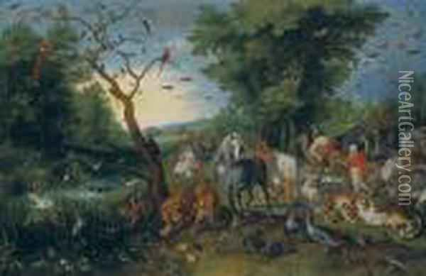 The Entry Of The Animals Into Noah's Ark Oil Painting - Jan Brueghel the Younger